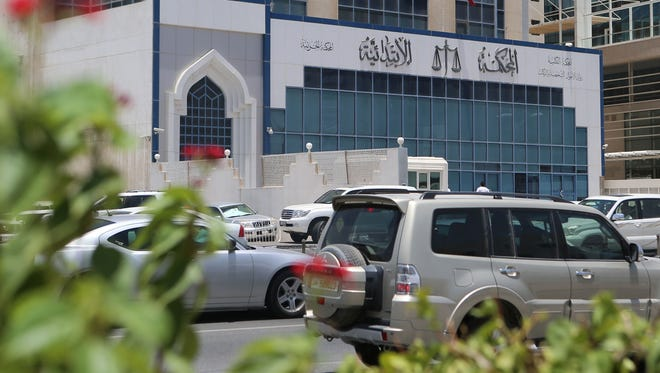 A general view shows the building of the Doha lower criminal court where the trial of a Dutch woman, who was jailed after reporting she had been raped, is taking place on June 13, 2016 in the Qatari capital.