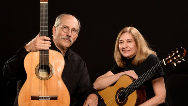 The Mayes Guitar Duo performs a concert at Rowan on Wednesday, March 8.