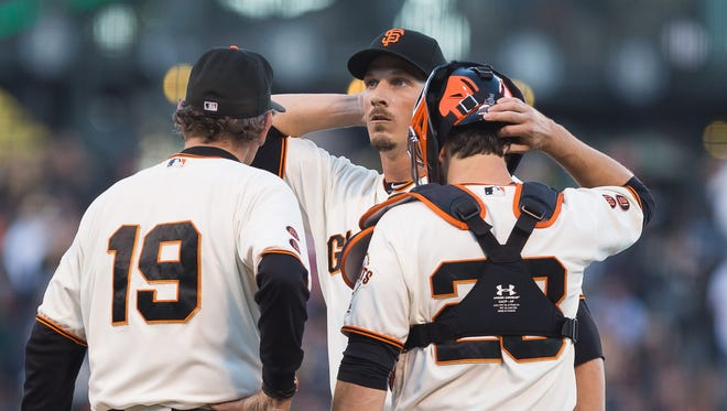 San Francisco Giants starting pitcher Jeff Samardzija gave up six earned runs in a loss to the Oakland A's on Tuesday night.