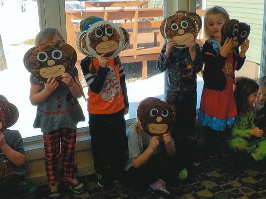 Students in 4-year-old kindergarten at St. John Lutheran provided entertainment at Evergreen Park Assisted Living in Kronenwetter.