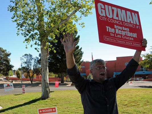 Richard Hall campaigns for Eli Guzman