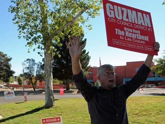 Richard Hall campaigns for Eli Guzman