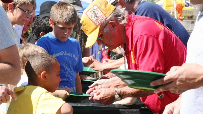 The gold panning area was popular during the 2014 Dayton Valley Days event.