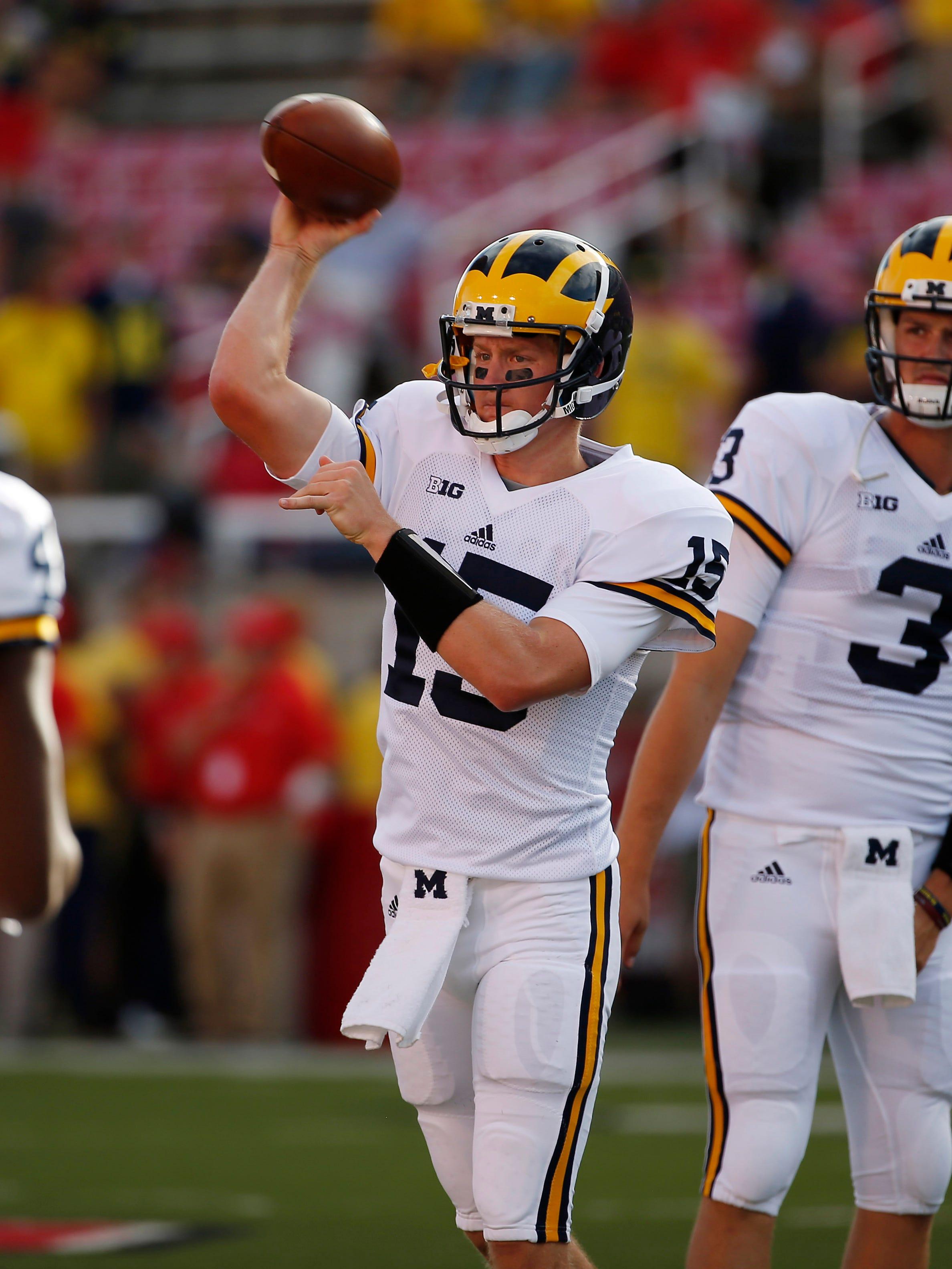 Michigan starts transfer Jake Rudock at quarterback