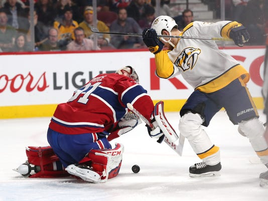 NHL: Nashville Predators at Montreal Canadiens
