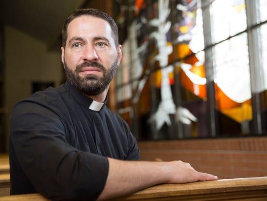 Father Joel Faulk at St. Pius Catholic Church in Lafayette