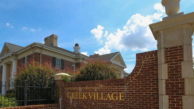 University of South Carolina's Greek Village.