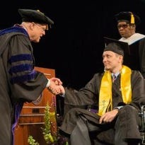 The University of Wisconsin-Stevens Point conferred degrees on nearly 1,400 graduates during the university's 2015 spring commencement ceremonies.