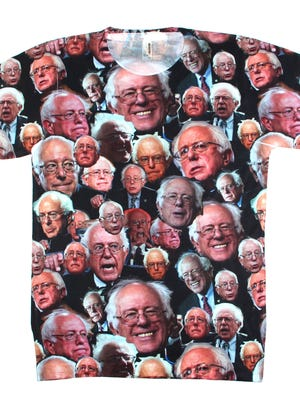 This Bernie Sanders shirt represents the first time Raygun has put a presidential candidate's photo on a product.