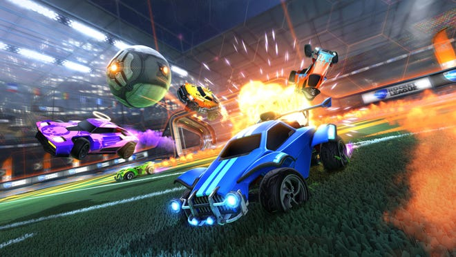 """Rocket League"" is basically just soccer, but the players are all cars. It's chaotic, fast, kind of dumb and incredibly fun."