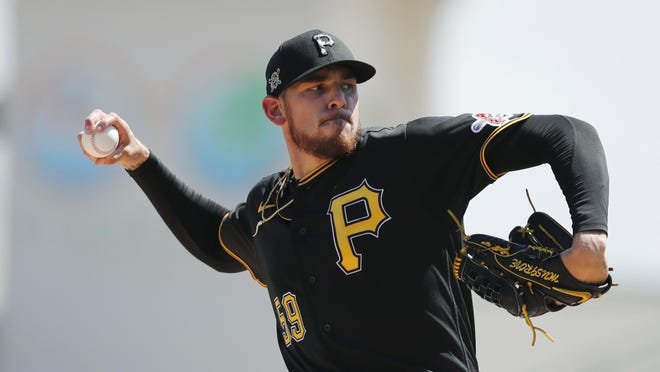 Pittsburgh Pirates pitcher Joe Musgrove delivers during a spring training game, March 12 in Bradenton, Florida.