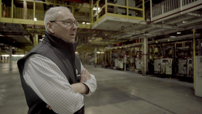 Lordstown Motors CEO Steve Burns inside the former GM Lordstown assembly plant that his company purchased and is retooling to make the all-electric Endurance pickup truck.