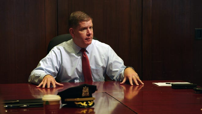 """City Hall"" shows Mayor Marty Walsh in a meeting about violent crime."