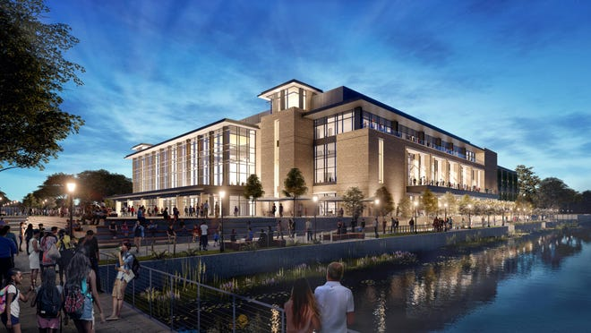 An artist's rendering of the completed Savannah arena project.