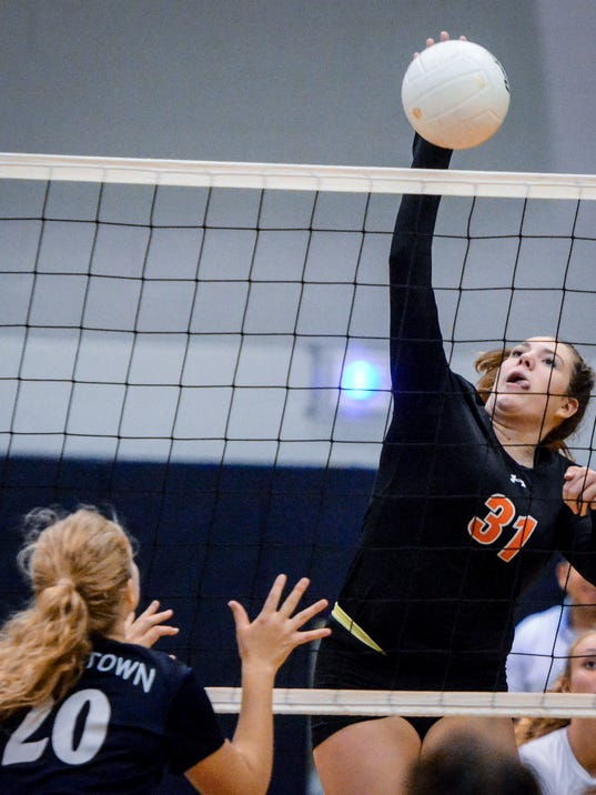 Central York at Dallastown girls' volleyball