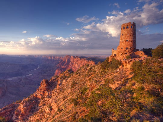 Desert View Watchtower at the Grand Canyon.