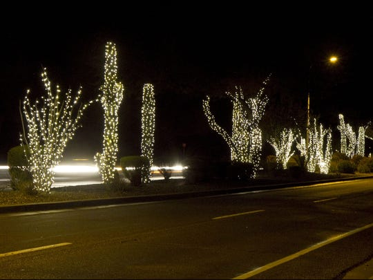 Festival of Lights, a mile long section of Chandler Blvd. in Ahwatukee Foothills in 2012.