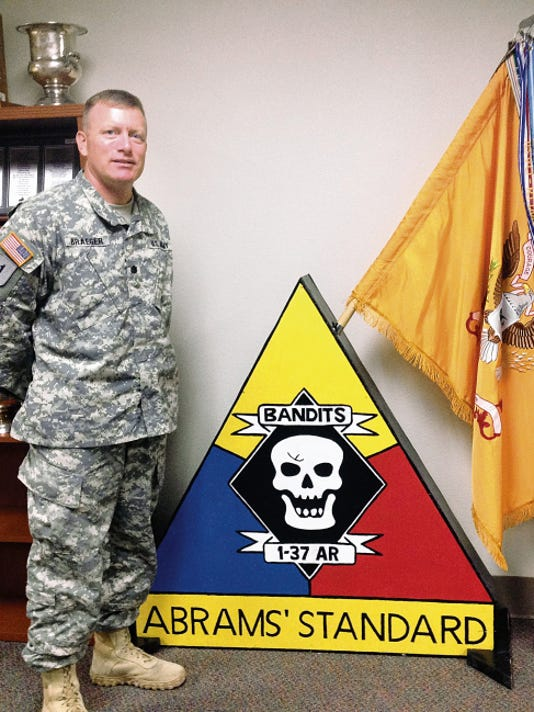 """Lt. Col. Ken Braeger, commander of the newly reactivated 1st Battalion, 37th Armored Regiment, said there are """"unique challenges"""" to building a unit from scratch."""