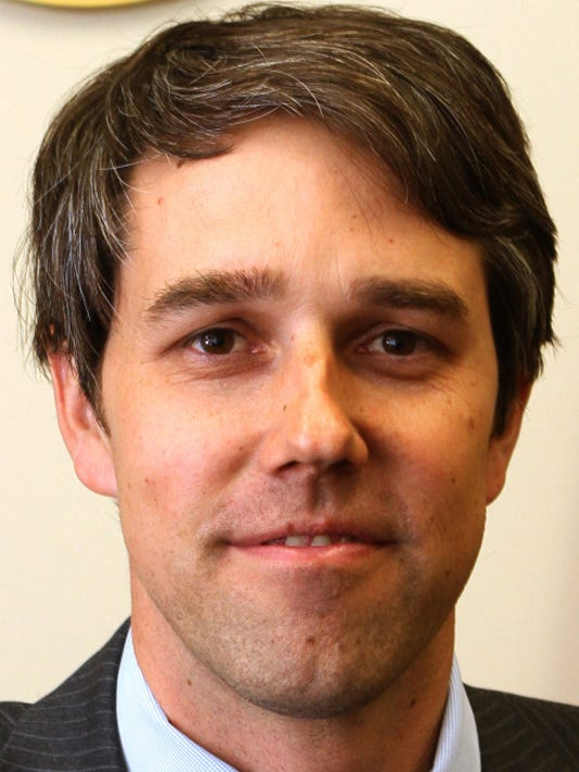 U.S. Rep. Beto O'Rourke spoke about first 100 days in office Monday at his office.