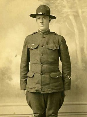 John A. Mayer was a World War I soldier from Avon. He is shown in a photo from about 1918.