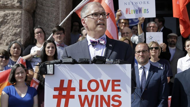 The number of same-sex marriages has surged since Jim Obergefell and his fellow plaintiffs won their case at the Supreme Court last June.
