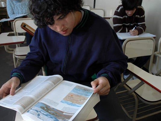 Student studies (stock)