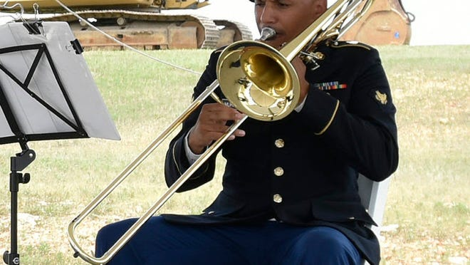 Spc. Joseph Murrell, a trombonist with the 399th Army Band, was named U.S. Army Maneuver Support Center of Excellence Soldier of the Year at the 2020 Best Warrior Competition in July. His family has served the country dating back to the Civil War.