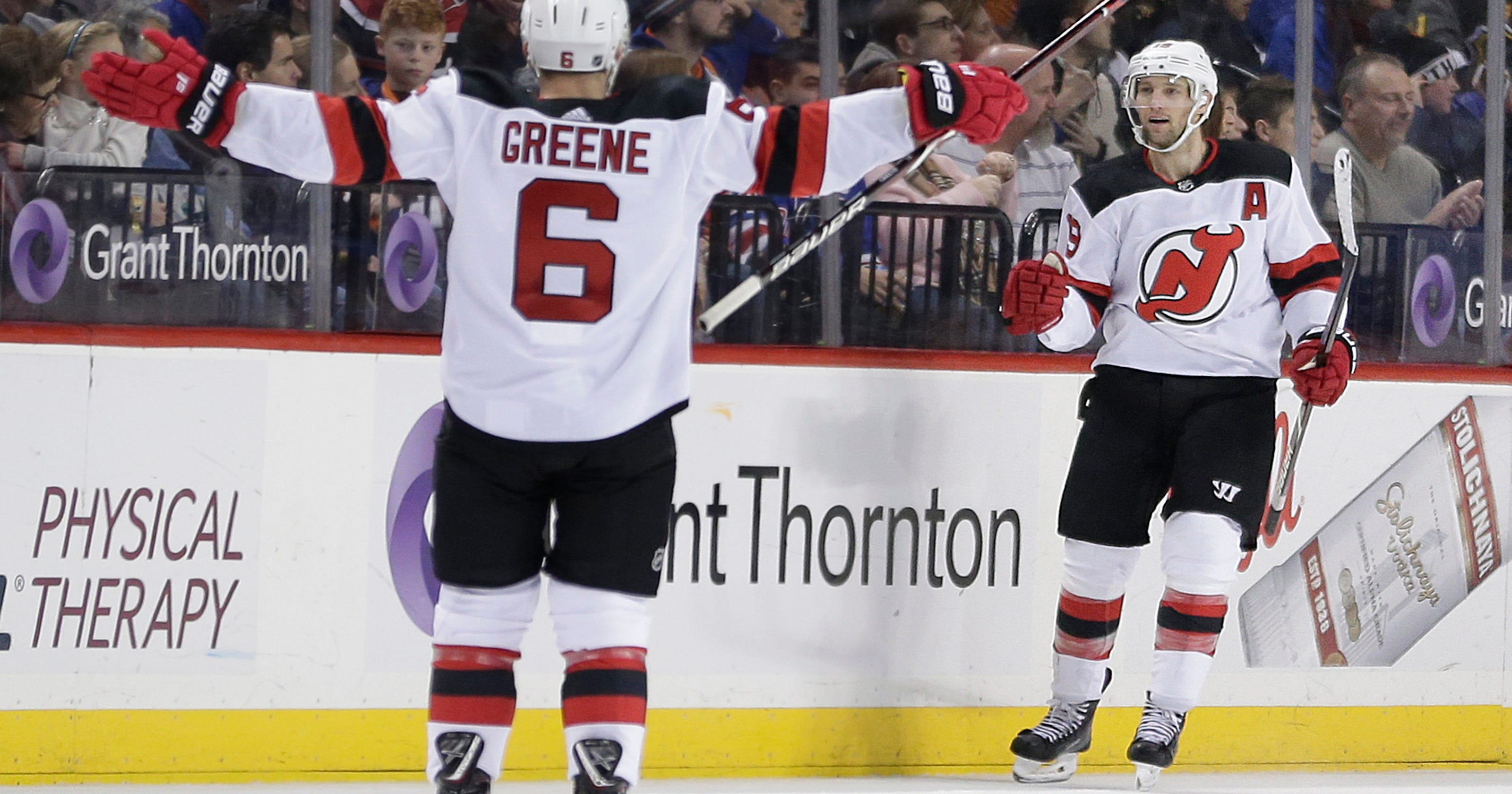 c4db41105 Andy Greene and Travis Zajac glad to be back in playoff hunt with Devils