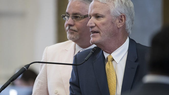 State Rep. Lyle Larson, R-San Antonio, right, filed legislation that would give voters the chance to approve allowing doctors to prescribe medical marijuana.