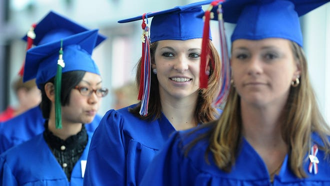 A scene from the 2012 graduation ceremony from Truckee Meadows Community College.