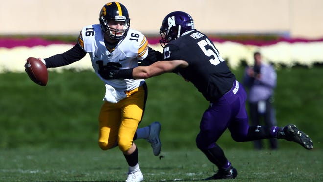 C.J. Beathard wasn't his usual mobile self against Northwestern, but still was a play-maker in a 40-10 win at Northwestern.