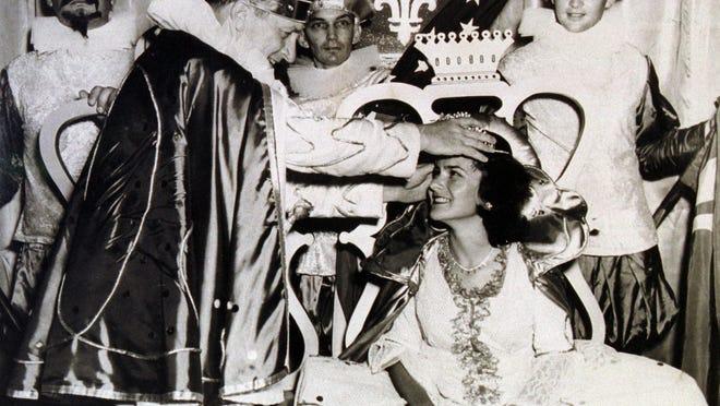 LEFT: Fiesta King and Queen J. McHenry Jones and Nickie Hayward.