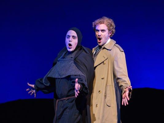 Brad York as Igor and Kurtis W. Overby as Dr. Frankenstein