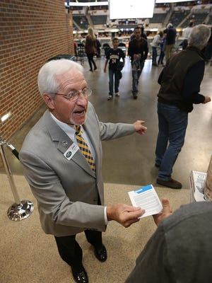 Jim Saddler, a Pacers usher at Bankers Life Fieldhouse, served on Air Force One, serving three different presidents.