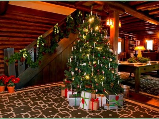 """The rooms at the Stickley Museum at Craftsman Farms in Morris Plains will be spectacularly decorated for the """"Holiday Decorations in the Log House"""" event on Sunday."""