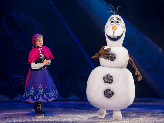 """""""Frozen's"""" lovable snowman Olaf is sure to get some laughs on the ice at the Resch Center during """"Passport to Adventure."""""""