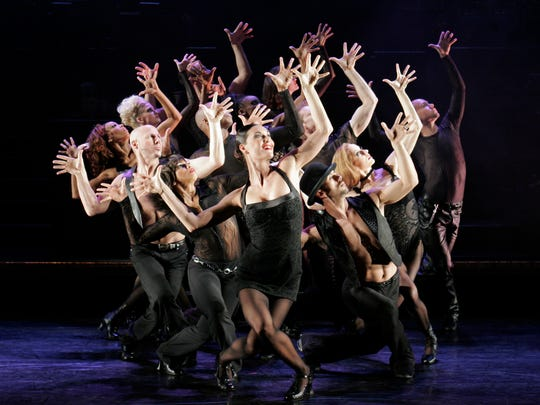 """A publicity photo shows cast members of """"Chicago"""" performing. The show's dance is influenced by its original choreographer, Bob Fosse, who frequently included """"jazz hands"""" among his dance moves. """"Chicago"""" plays Springfield Dec. 5-7, 2017."""