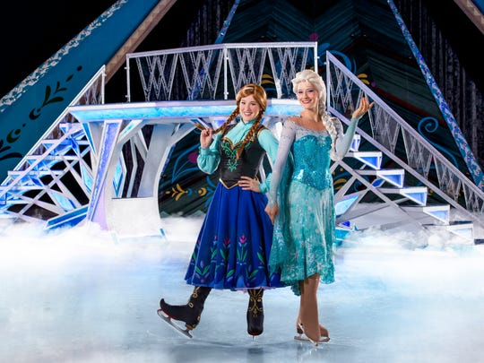 "See Anna and Elsa during ""Disney on Ice: Frozen"" on May 11-13 at the Pensacola Bay Center."