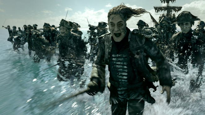 "Javier Bardem in ""Pirates of the Caribbean: Dead Men Tell No Tales."""
