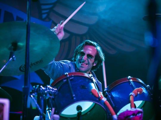 Matt Burr, drummer for Grace Potter plays during day