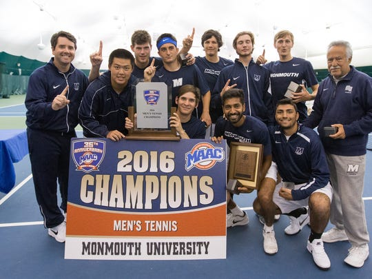 the Monmouth men's tennis team plays Virginia in the NCAAs on Saturday.