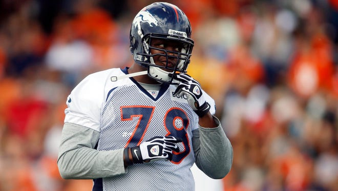 Broncos LT Ryan Clady missed most of the offseason while recovering from shoulder surgery.