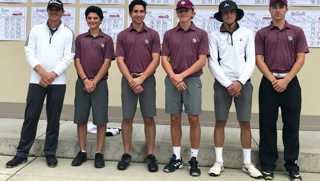 Seaholm's golf team, coached by Matt Pesta, placed third at the Division 1 state meet at Grand Valley State University.