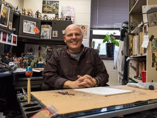 UMES Assistant Professor of Art Brad Hudson is shown