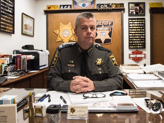 Wicomico County Sheriff Mike Lewis poses for a photo