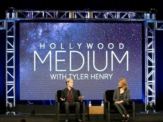 Tyler Henry (left) and executive producer Stephanie