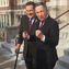 Democratic gubernatorial candidate Dennis Kucinich, right, appears with Hamilton County Commissioner Todd Portune at a press conference in Cincinnati on March 26, 2018.