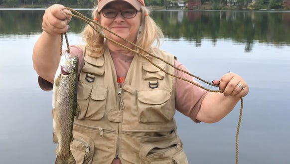 Carol chased the rainbow and caught it at Mountain