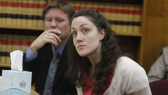 Sophia Downing listens to testimony during the penalty phase in Marion County Circuit Court on Wednesday, May 2, 2012. Downing was convicted on two counts of first degree manslaughter, second degree assault, driving under the influence and reckless endangerment earlier in April.