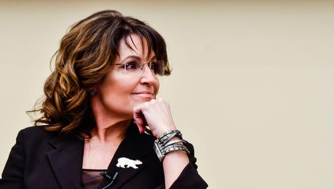 Former Governor Sarah Palin speaks April 14, 2016 in Washington, D.C.